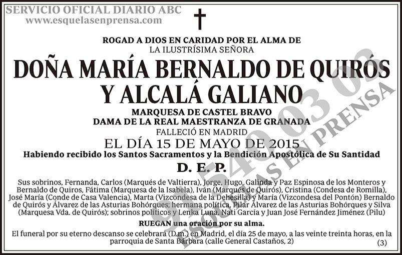 María Bernaldo de Quirós y Alcalá Galiano